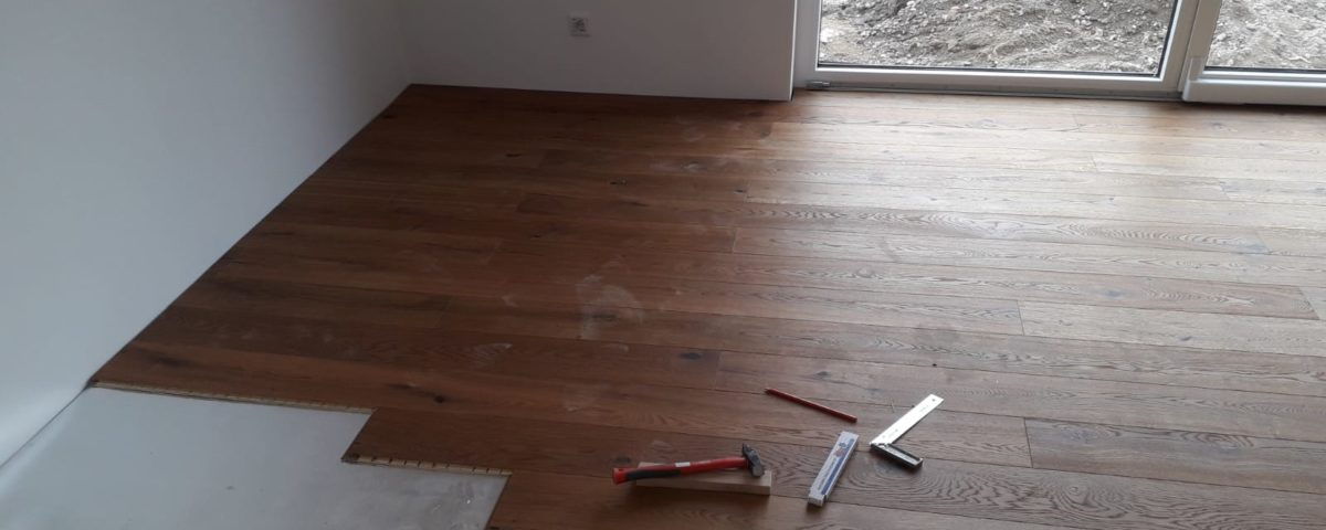 Klick Parkett in Neubau Wohnung verlegen Braunschweig